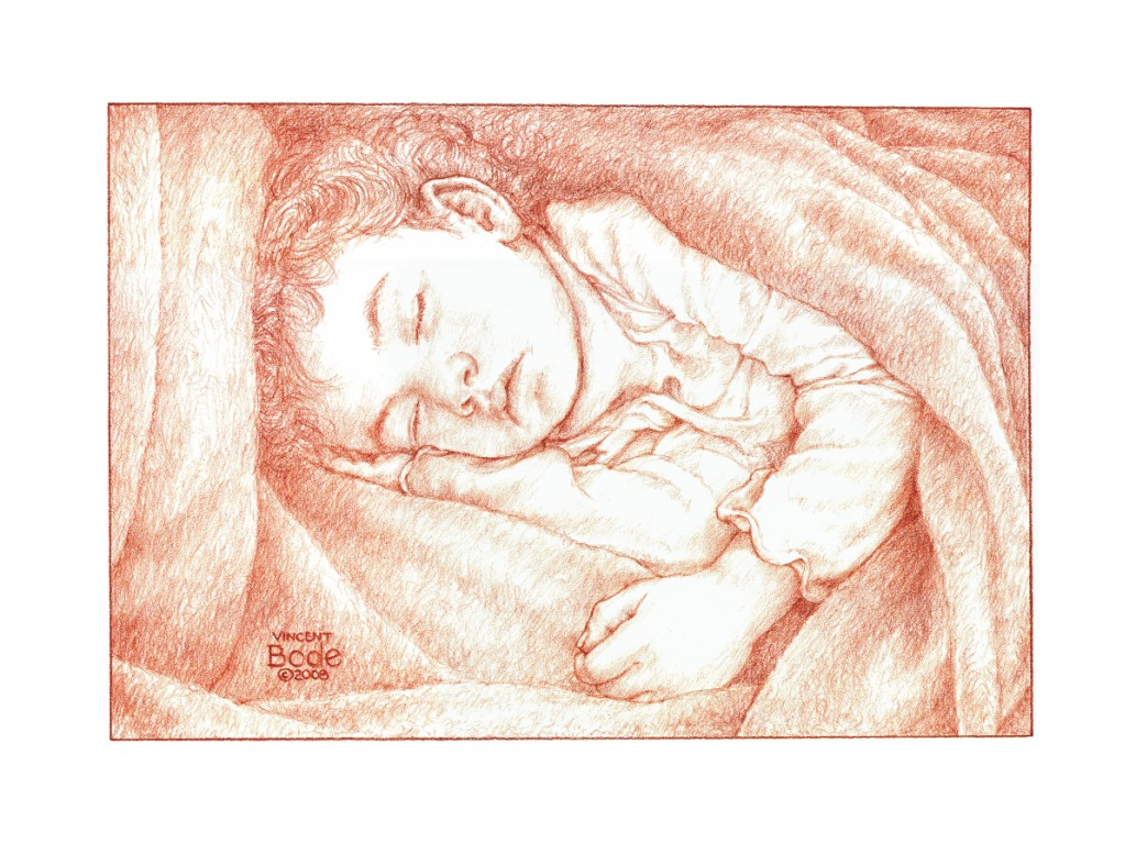 Girl Sleeping Drawing Sleeping Girl 12x16 Terra